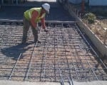 Rebar Installation - Commercial Concrete Slab
